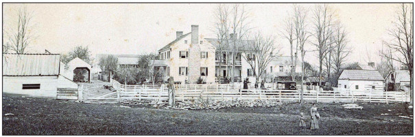 THE BUSHONG farm was a thriving agricultural enterprise at the time of the Civil War. (Image courtesy of Lt. Col. Troy Marshall)