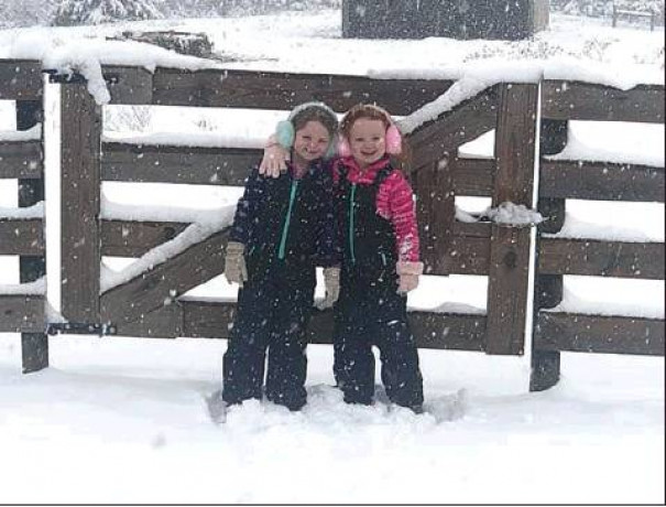When The News-Gazette asked on Facebook for postings of snow photos during yesterday's first winter event of 2020, dozens of readers responded. A few are published here, including this one of Sadie and Sophie McComas in Raphine.