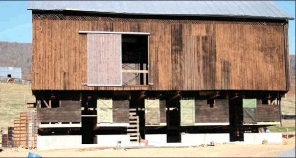 Barn Restoration Lifts Off