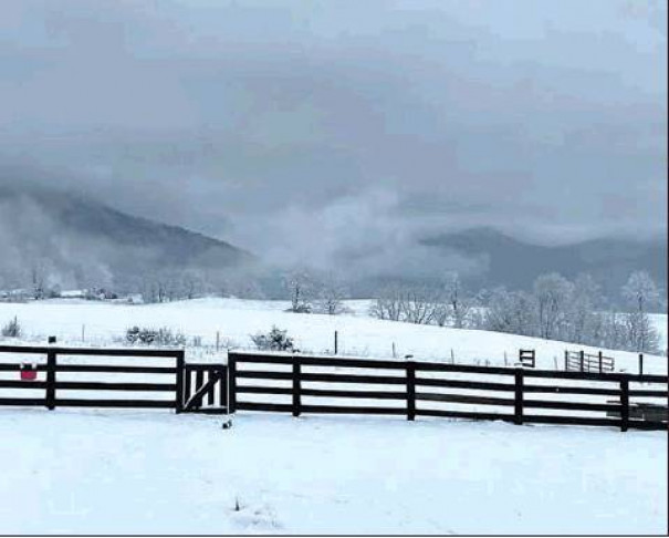 Clouds over the mountains to the west could be seen in this photo taken in Rockbridge Baths by Morgan McCown.