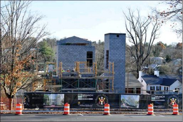 AT LEFT, among those other projects is the new VMI Post Police building, which is scheduled for completion in May. (VMI photos by Kelly Nye)